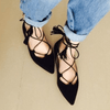 Point Toe Gladiator Flat Shoes Women's Shoes - Korean Fashion