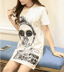 Korean Fashion - Shoes and Clothing - Women's Graphic Dress - Dress -  - Gangnam Styles - 3