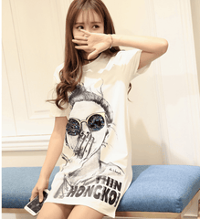 Korean Fashion - Shoes and Clothing - Women's Graphic Dress - Dress -  - Gangnam Styles - 4