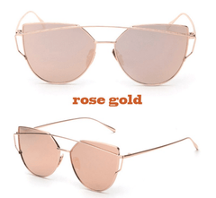 Korean Fashion - Shoes and Clothing - Soho Cat Eye Mirror Sunglasses - Sunglasses - Rose Gold - Gangnam Styles - 10