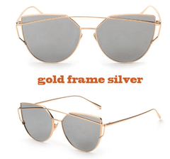 Korean Fashion - Shoes and Clothing - Soho Cat Eye Mirror Sunglasses - Sunglasses - Gold Frame Silver - Gangnam Styles - 11