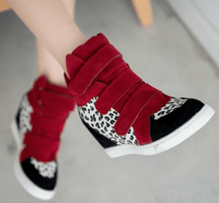 Korean Fashion - Shoes and Clothing - Leopard Wedge Sneakers - Shoes -  - Gangnam Styles - 5