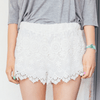 Cocktail Crochet Lace Shorts Women's Clothing - Korean Fashion
