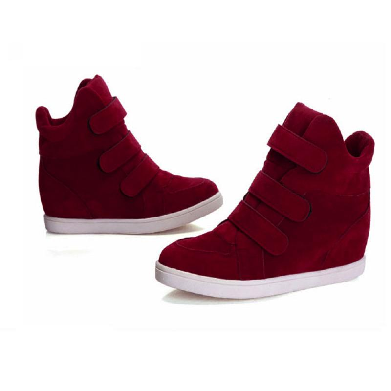 Suede Strap Sneakers Sneakers - Korean Fashion