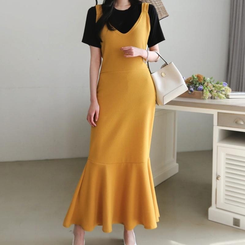 Summer Bloom Dress Dress - Korean Fashion