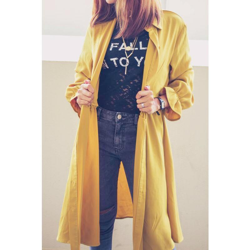 Trench Coat Coat - Korean Fashion
