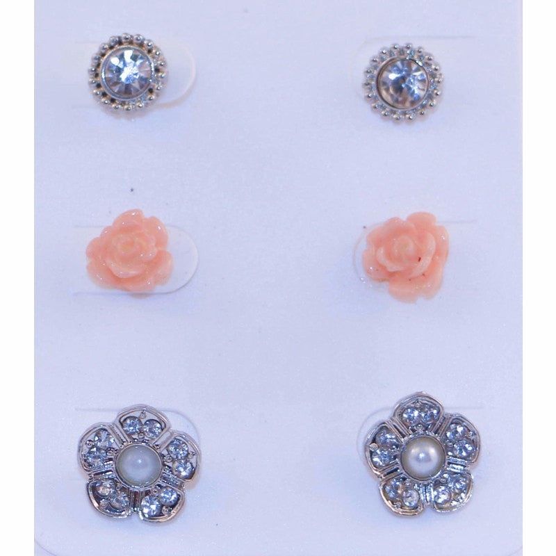 Assorted Multi Stud Earrings Jewelery - Korean Fashion