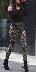 Korean Fashion - Shoes and Clothing - Camouflage High Waisted Jeans - Bottoms -  - Gangnam Styles - 3