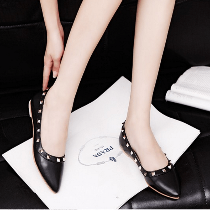 Korean Fashion - Shoes and Clothing - Elegant Matte Flat Shoes - Shoes -  - Gangnam Styles - 3