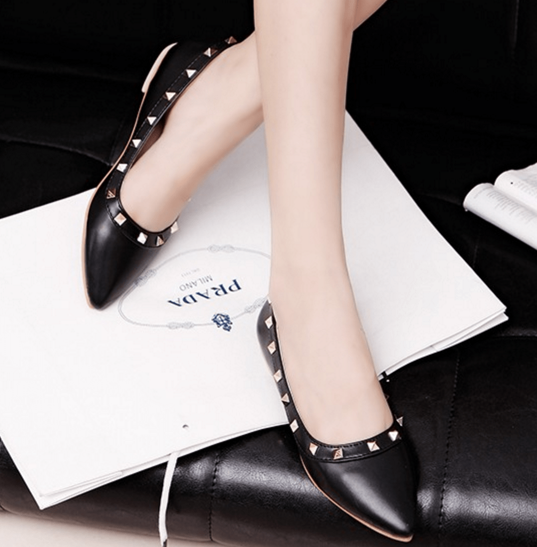 Korean Fashion - Shoes and Clothing - Elegant Matte Flat Shoes - Shoes -  - Gangnam Styles - 8