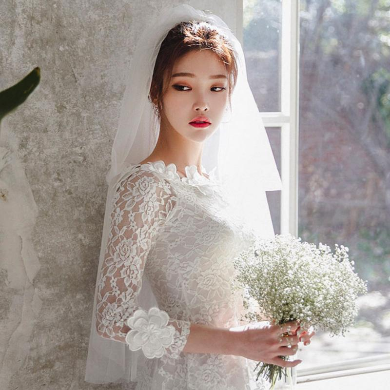 Wedding Veil Lace Accessories - Korean Fashion