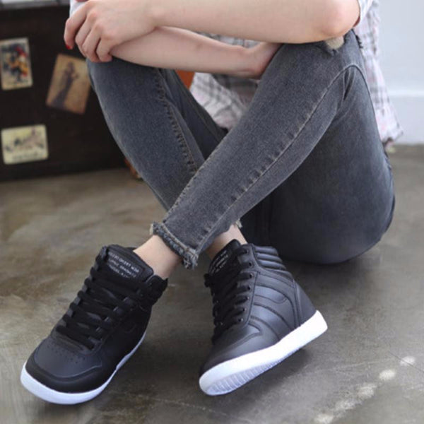 Laced Wedge Sneakers