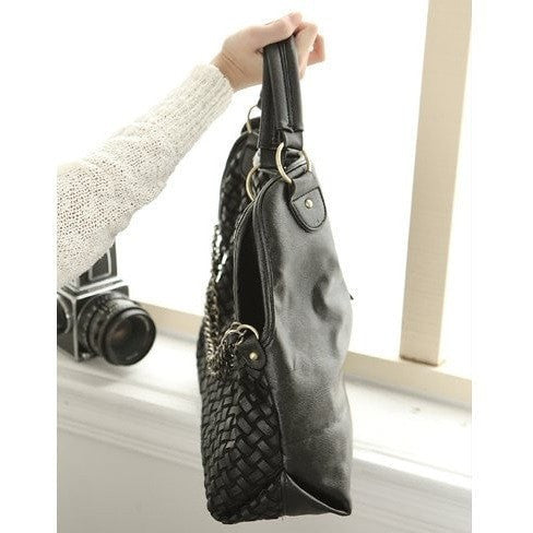 Vintage Weave Hand Bag Accessories - Korean Fashion