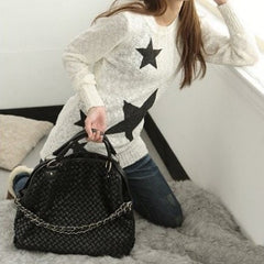 Korean Fashion - Shoes and Clothing - Vintage Weave Hand Bag - Bag -  - Gangnam Styles - 5