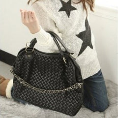 Korean Fashion - Shoes and Clothing - Vintage Weave Hand Bag - Bag -  - Gangnam Styles - 4