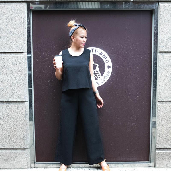 Balloon Top with Flared Pants