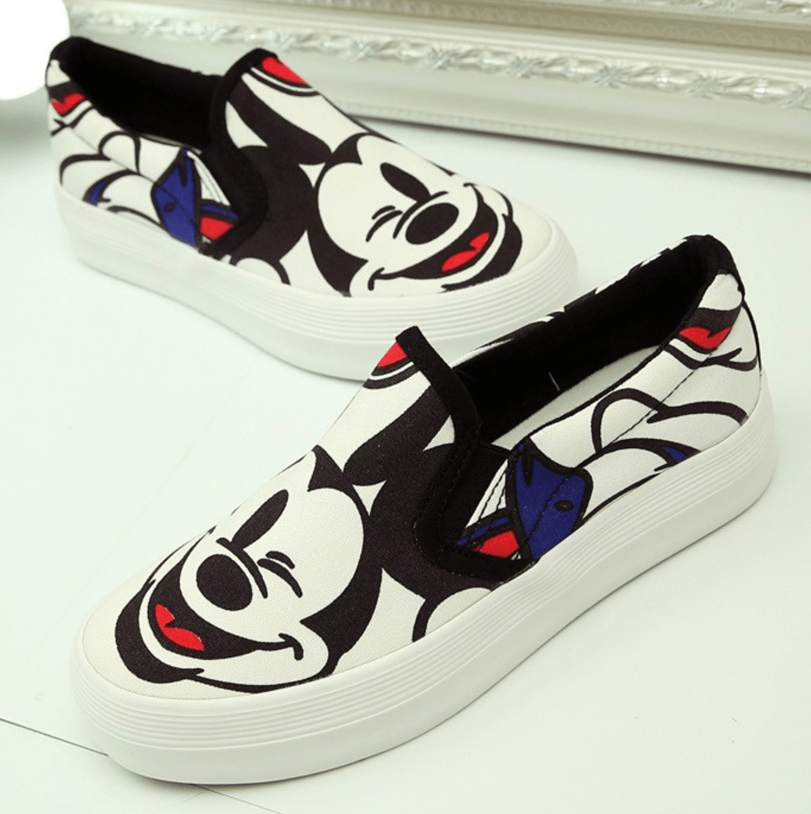 Mickey Mouse Slip-On Loafers