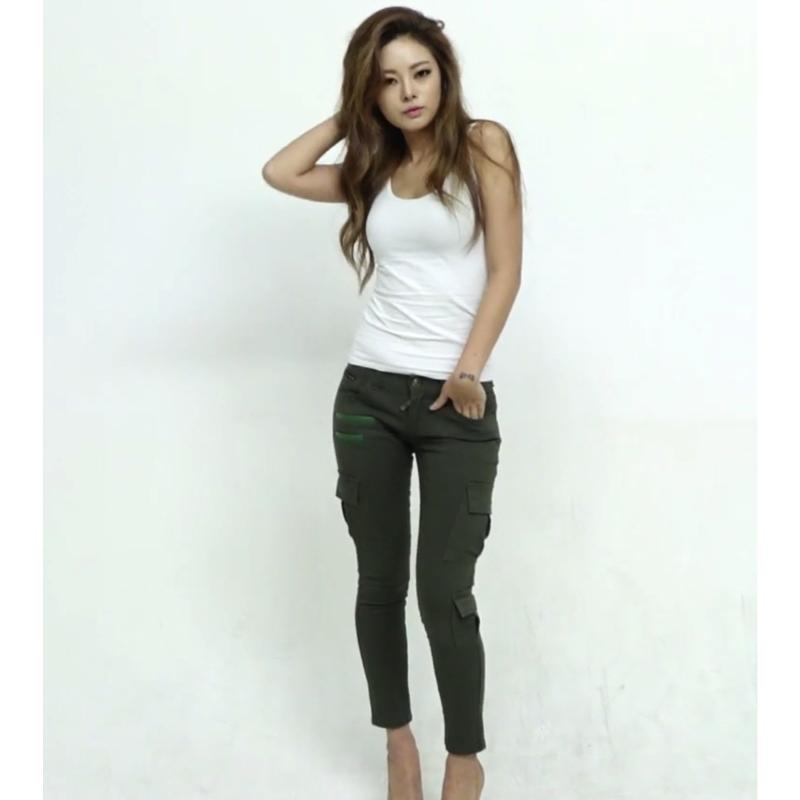 Cargo Denim Jeans Jeans - Korean Fashion