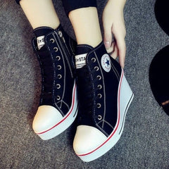 Korean Fashion - Shoes and Clothing - Platform Wedge Sneakers - Wedge Sneakers -  - Gangnam Styles - 11