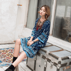Korean Fashion - Shoes and Clothing - Boho Chic Hippie Dress - Dress -  - Gangnam Styles - 2
