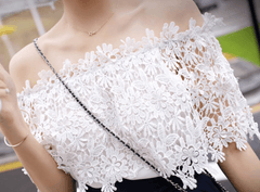 Korean Fashion - Shoes and Clothing - Off Shoulder Lace Blouse - Tops -  - Gangnam Styles - 6