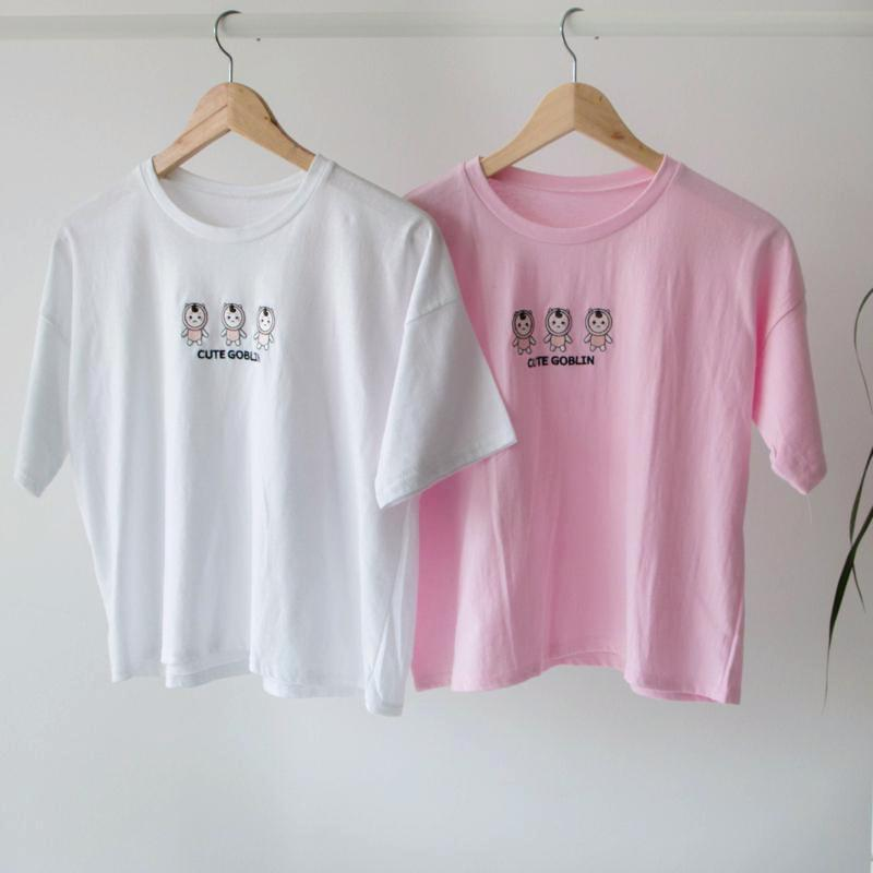 Goblin T-Shirt Top - Korean Fashion