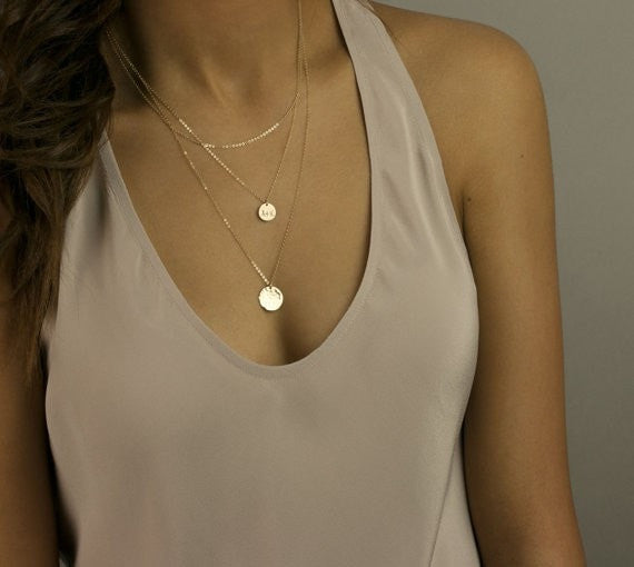 Gold Coin Pendant Necklace Jewelery - Korean Fashion