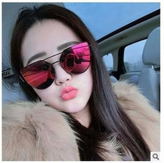 Korean Fashion - Shoes and Clothing - Soho Cat Eye Mirror Sunglasses - Sunglasses -  - Gangnam Styles - 1