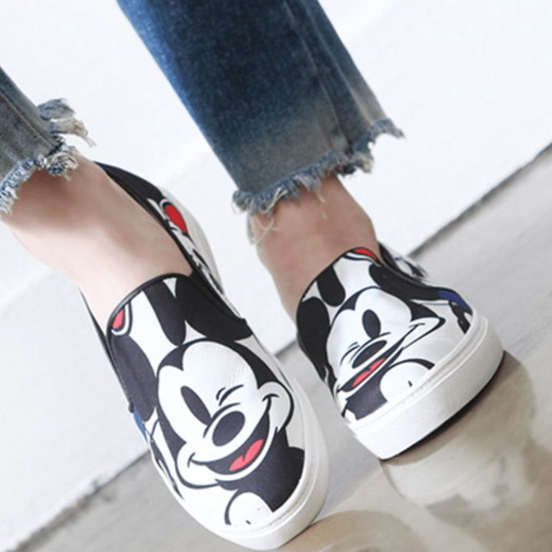 Korean Fashion - Shoes and Clothing - Mickey Mouse Slip-On Loafers - Loafers -  - Gangnam Styles - 5