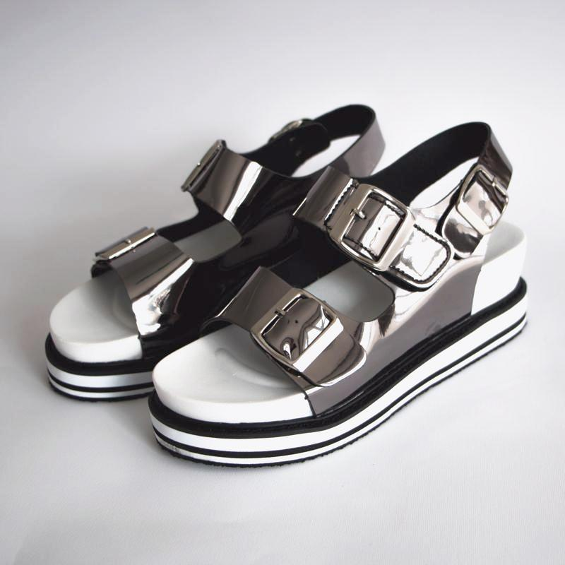 Multi Platform Sandals Sandals - Korean Fashion