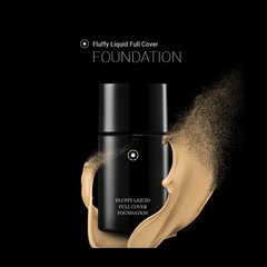 Clematis Fluffy Liquid Full Cover Foundation Cosmetics - Korean Fashion