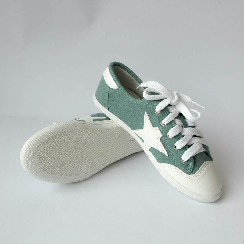 Star Flat Sneakers Sneakers - Korean Fashion