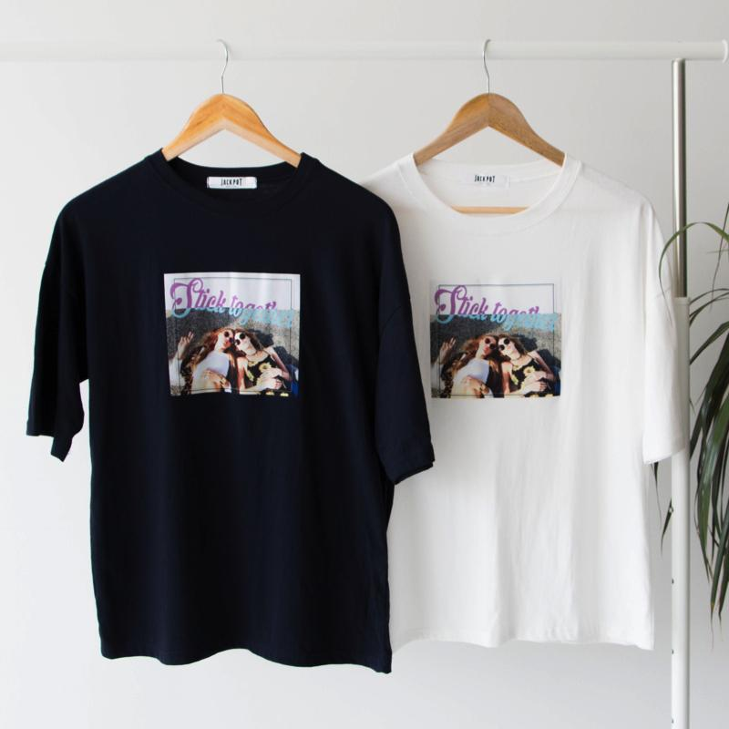 Stick Together T-Shirt Top - Korean Fashion