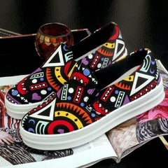 Korean Fashion - Shoes and Clothing - Printed Pattern Loafers - Shoes -  - Gangnam Styles - 3