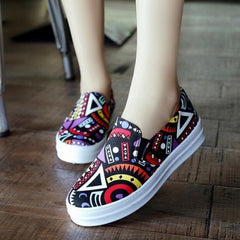 Korean Fashion - Shoes and Clothing - Printed Pattern Loafers - Shoes -  - Gangnam Styles - 6