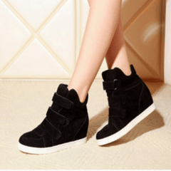 Korean Fashion - Shoes and Clothing - Korean Vintage Ankle Top Sneakers - Sneakers - 35 / Black - Gangnam Styles - 1