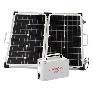 Solarpod™ 240 + 60W Rigid Solar Panel