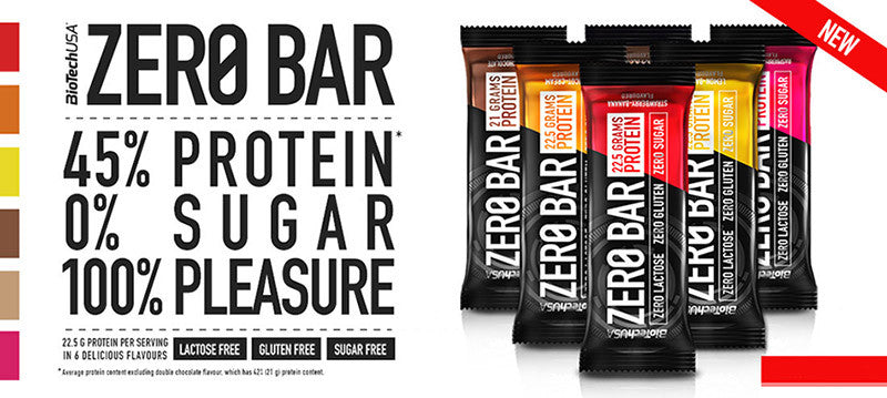 BiotechUSA Zero Bar Flavours available in Singapore