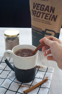 Instant hot chocolate muscle mix (High Protein Vegan Recipe Series)