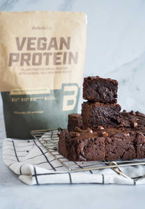 Dark Chocolate Protein Brownies