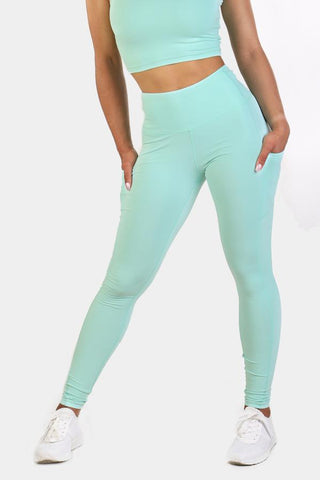 Jed North: Lotus Leggings - Mint Green
