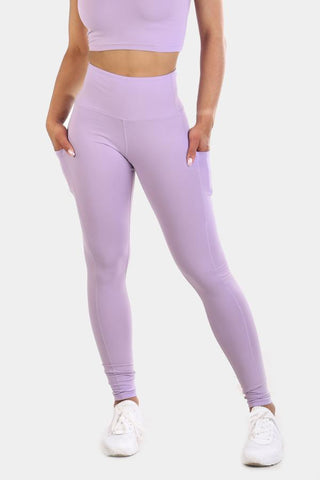 Jed North: Lotus Leggings - Purple