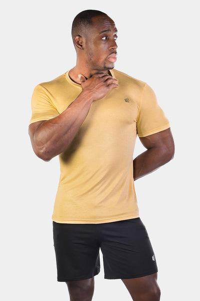 Jed North: Basic Crew Neck Tee - Beige
