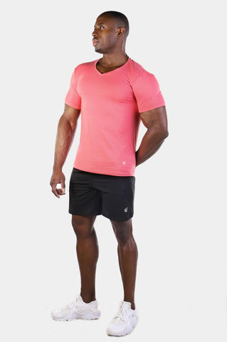 Jed North: Basic V-Neck Tee - Pink