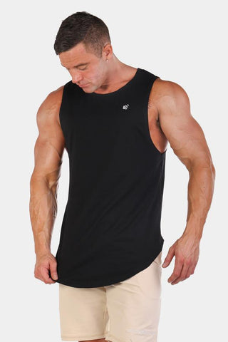 Jed North: Luxe Flex Loose Fitted Muscle Tee - Black