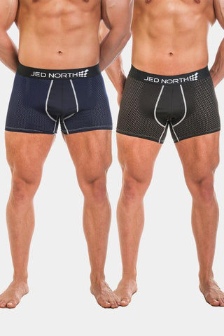 Jed North: 2 PACK ROUGE MESH UNDERWEAR - BLACK & NAVY