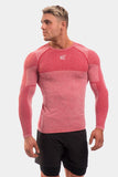 Jed North: ALPHA TRAINING SEAMLESS LONG SLEEVE - RED