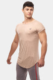 Jed North: Legacy Ripped Capped Sleeve Tee - Beige