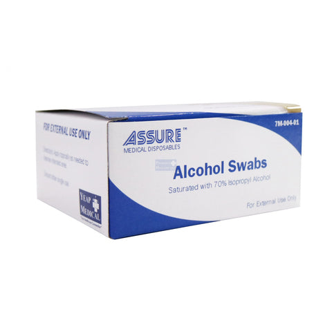 ASSURE Alcohol Swab Sterile 3cm x 3cm (200pcs/Box)
