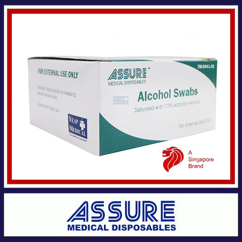 ASSURE Alcohol Swab Sterile 4cm x 4cm (200pcs/Box)